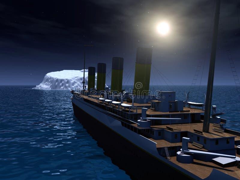 Titanic ed iceberg royalty illustrazione gratis