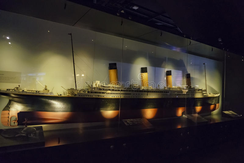 The Titanic Exhibition Centre stock photo