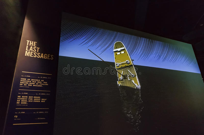 The Titanic Exhibition Centre royalty free stock image