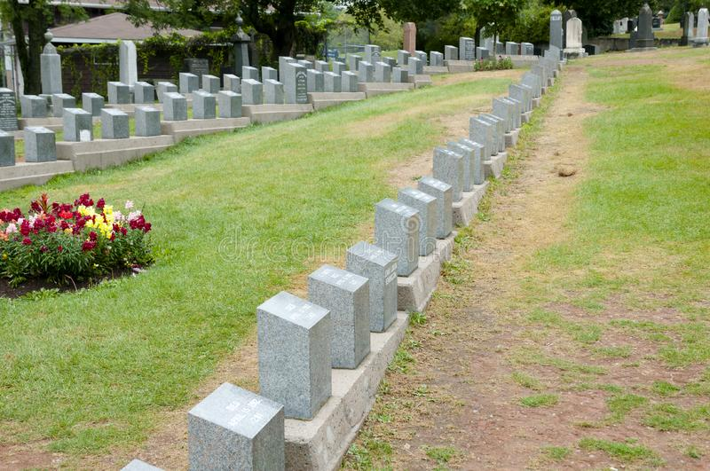 Titanic Graves - Halifax - Nova Scotia stock photography