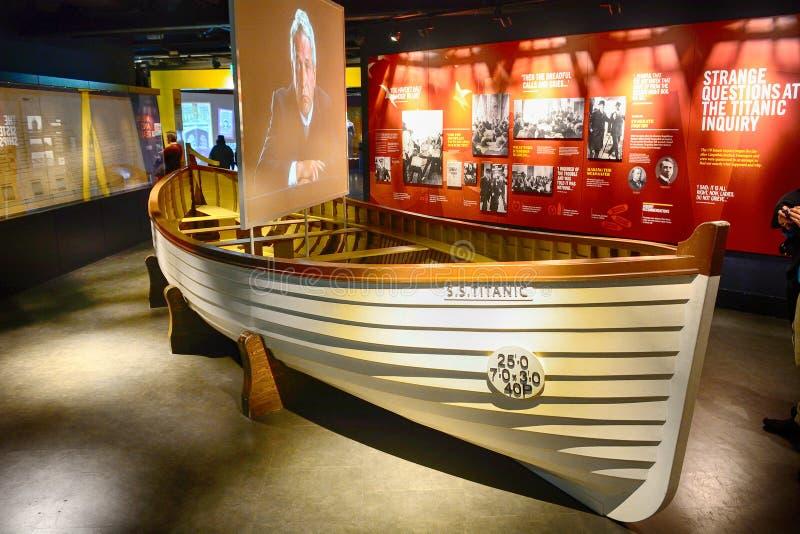 Titanic lifeboat, Belfast, Northern Ireland stock image