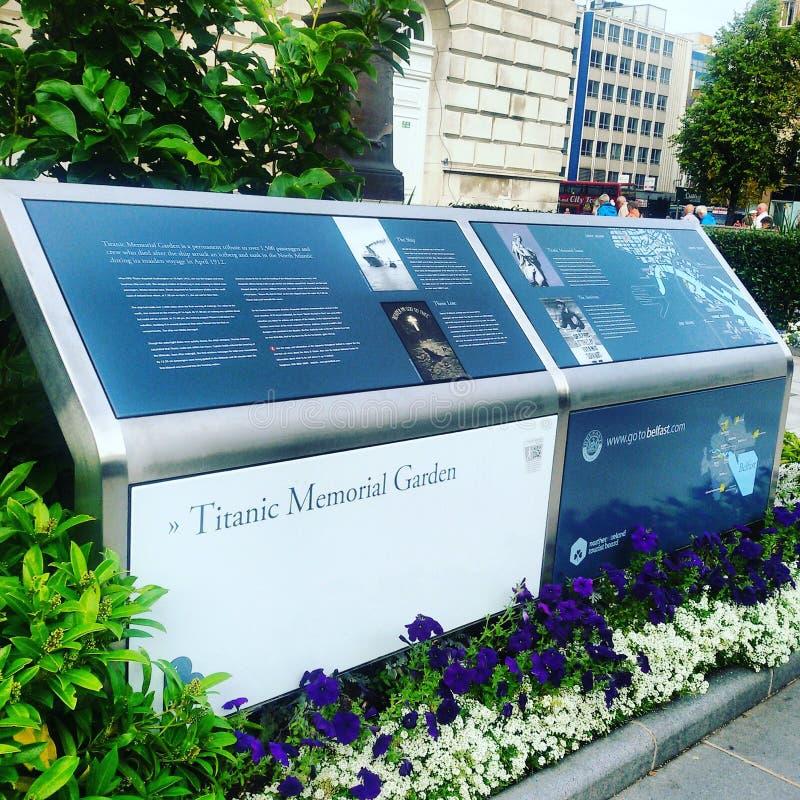 Titanic Memorial Garden stock images