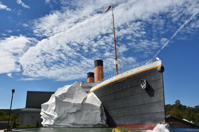 The Titanic Museum in Pigeon Forge, Tennessee stock photos