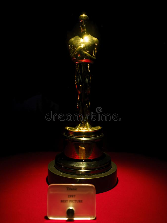 Titanic Oscar for Best Picture 1997 at Paramount Pictures Hollywood Tour on the 14th August, 2017 - Los Angeles, LA, California, C stock image
