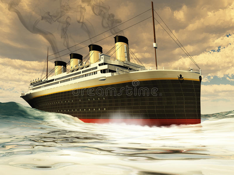 Download Titanic Ship stock illustration. Image of sinking, trip - 23956587