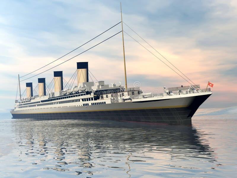 Titanic ship - 3D render vector illustration