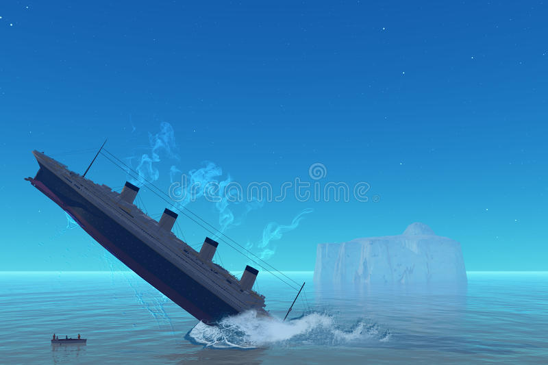 Titanic Sinking royalty free illustration