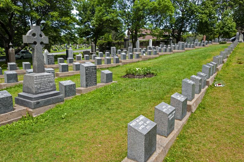 Titanic victims cemetery stock photo