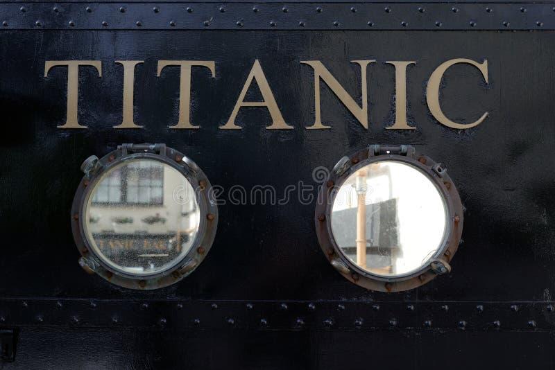 Titanische Besuchsmitte im cobh stockbilder