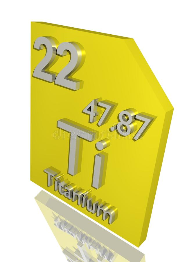 Titanium. From the periodic table vector illustration