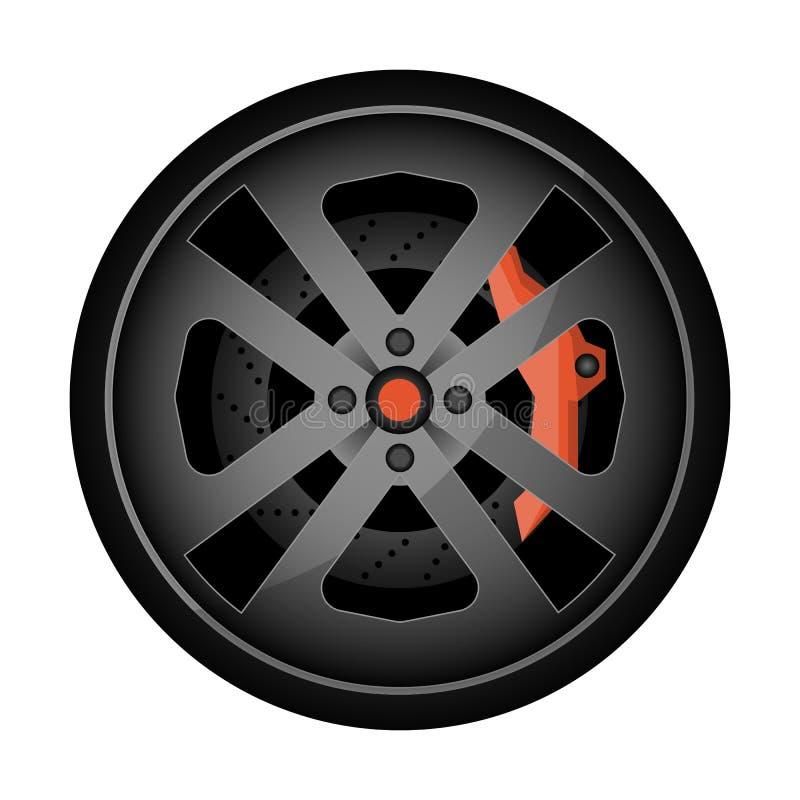 Titanium auto obręcza wektoru ikona ilustracji