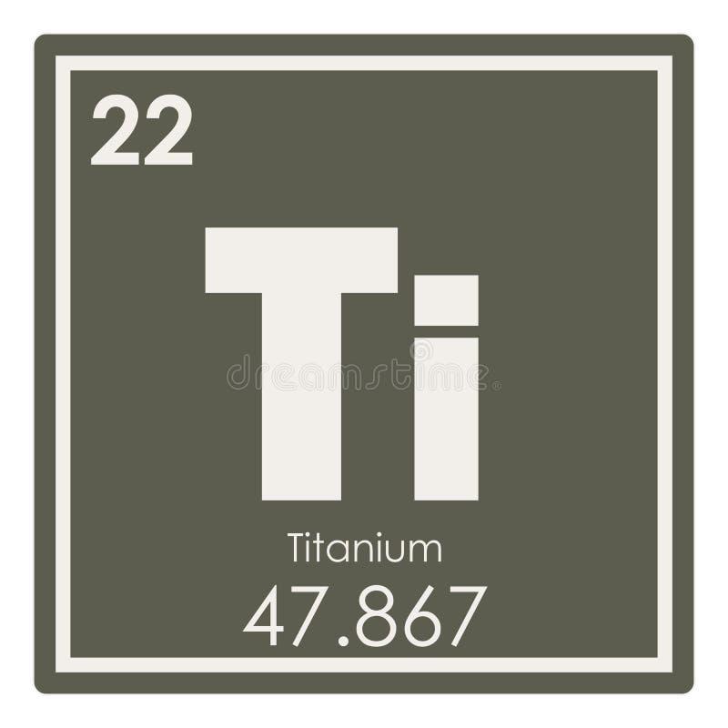 Titanium Chemisch Element Stock Illustratie Illustratie Bestaande