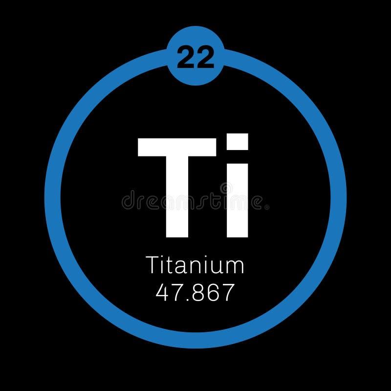 Titanium chemisch element stock illustratie