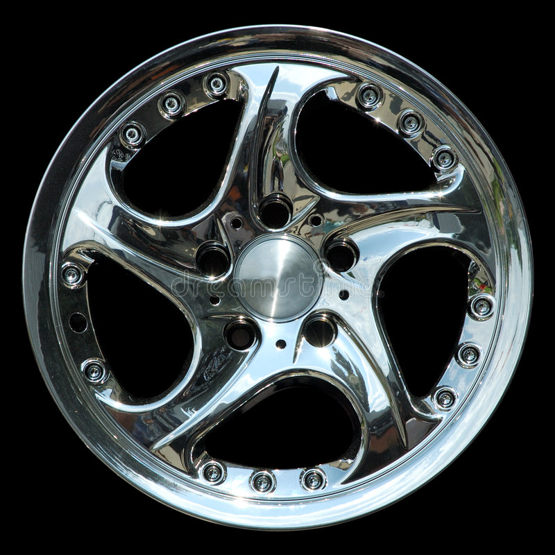 Free Titanium Crhome Car Rim Texture Isolated Royalty Free Stock Photo - 817605