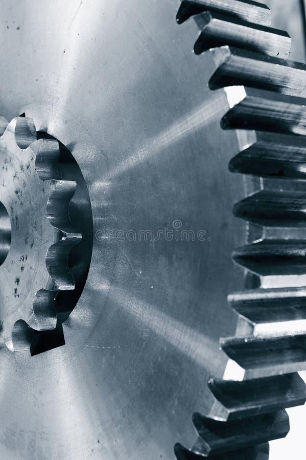 Titanium i stalowi przekładni koła obraz stock