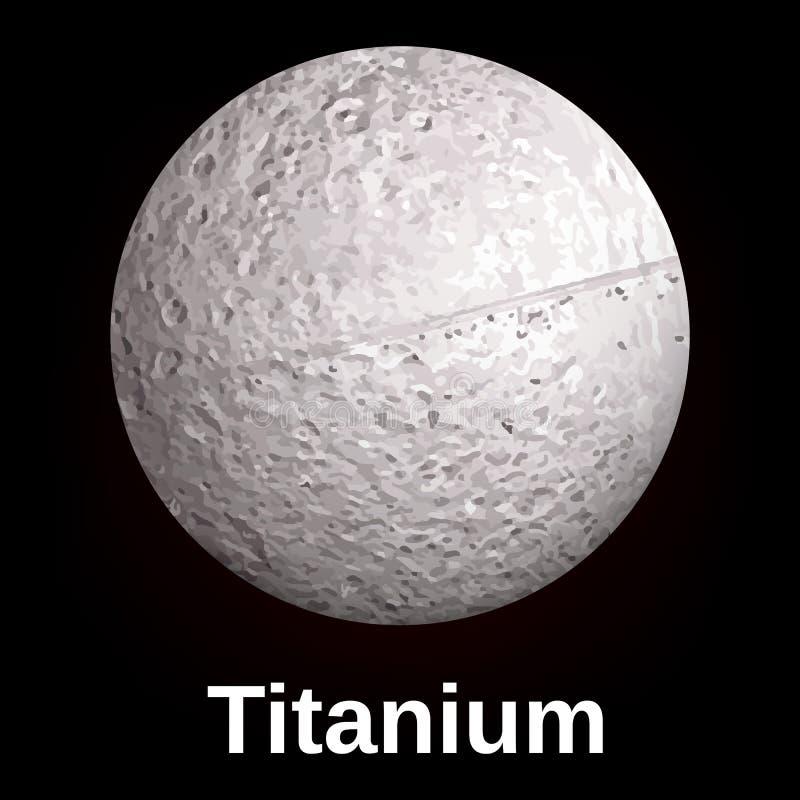 Titanium ikona, realistyczny styl ilustracji