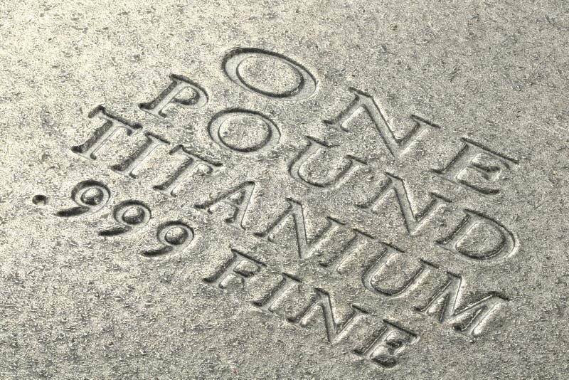 Titanium ingot obraz royalty free
