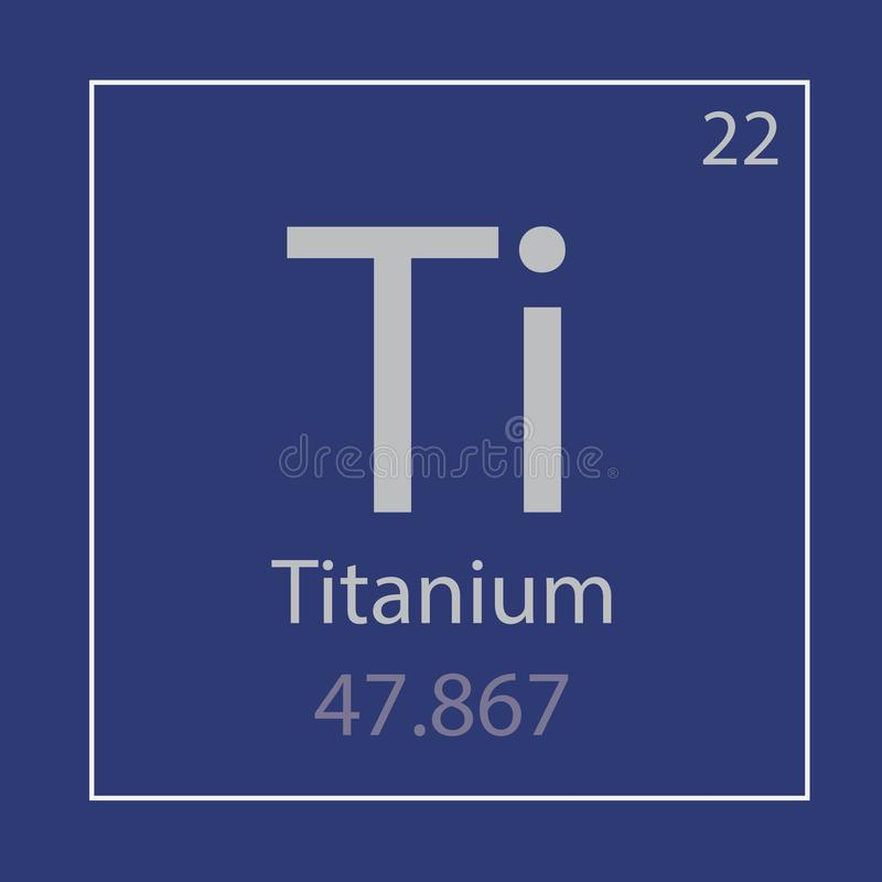 Titanium Ti chemicznego elementu ikona royalty ilustracja