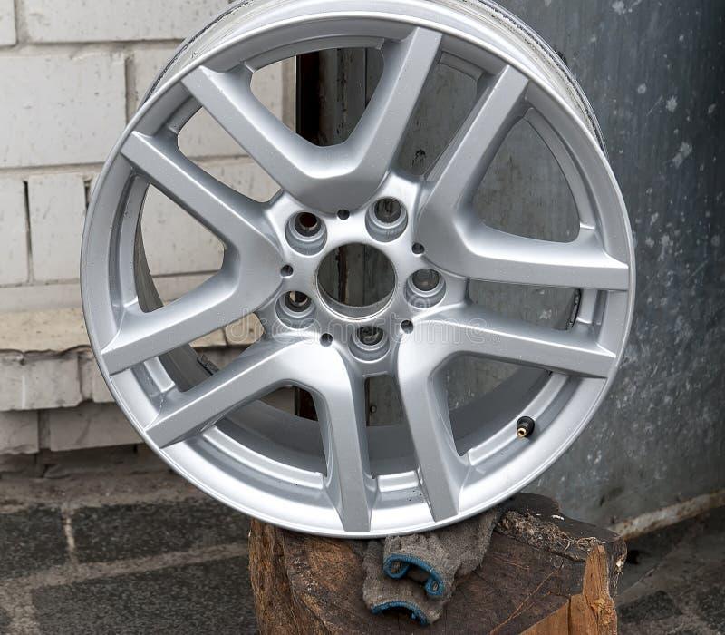 The titanium wheels for auto stock photo