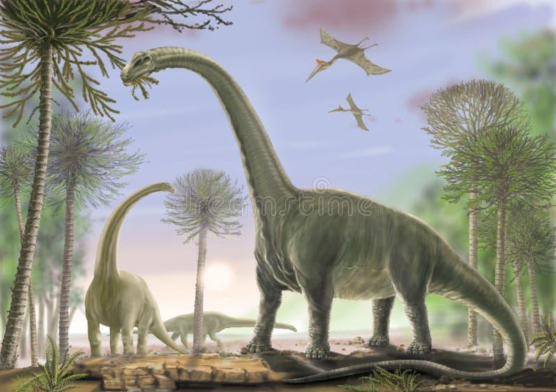 Titanosaur Argentinosaurus royalty ilustracja
