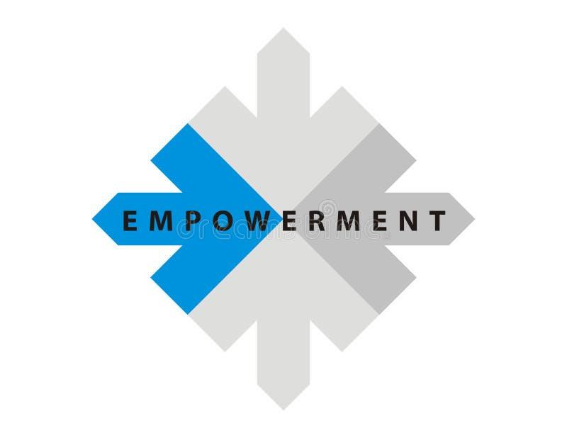 Titel/embleem-Empowerment-1 royalty-vrije illustratie