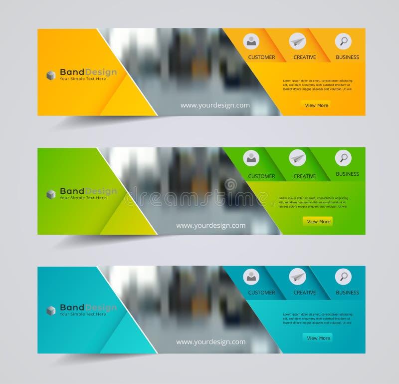 Titel-Fahnensozialdesign Vektor-Rahmenhintergrund verwendet für Deckblattdesign stock abbildung