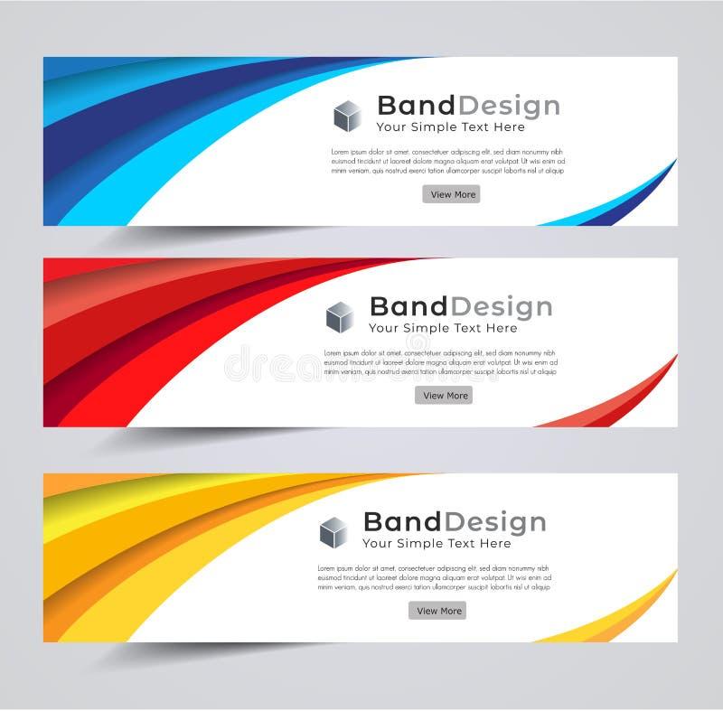 Titel-Fahnensozialdesign Vektor-Rahmenhintergrund verwendet für Deckblattdesign lizenzfreie abbildung