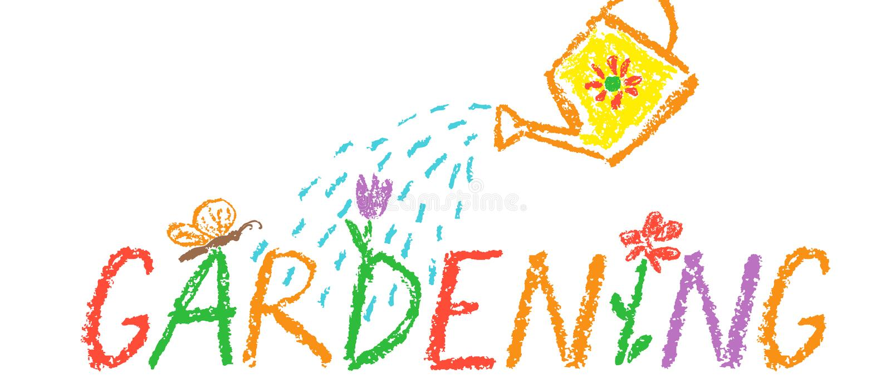 TITEL-Grenzhintergrund des Zeichenstifts Gartenarbeit Wie die Kinderhand, die lustigen Kopienraum im Freien zeichnet lizenzfreies stockfoto