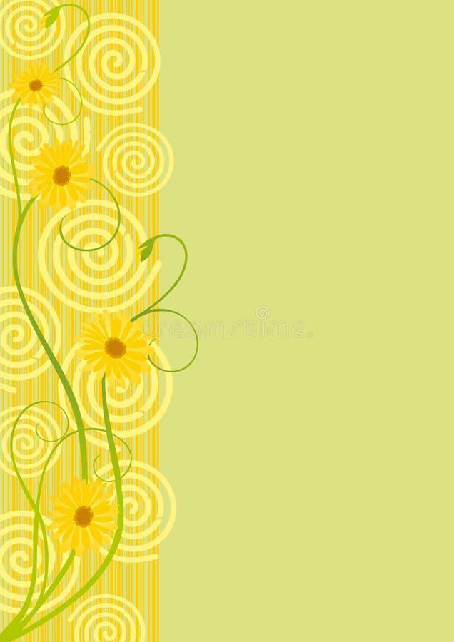 Titelblatt des Gemüsemusters, der Spiralen und der Zeile lizenzfreie abbildung