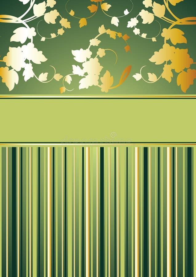 Titelblatt vom Gemüsemuster und von der Zeile stock abbildung
