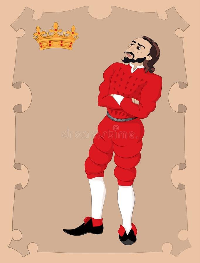 Titeln av hertigdömet stock illustrationer