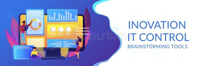 Titelrad för baner för begrepp för innovationledningprogramvara stock illustrationer