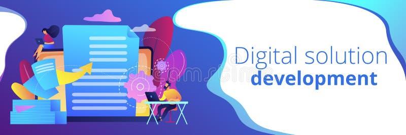 Titelrad för baner för Digital omformningsbegrepp vektor illustrationer
