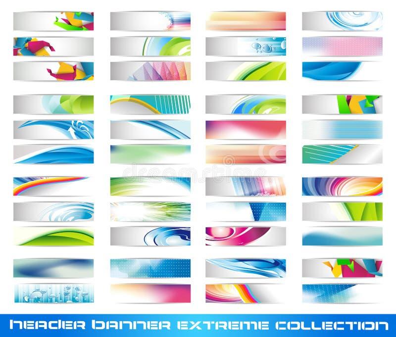 titelrad för banersamlingsextreme vektor illustrationer