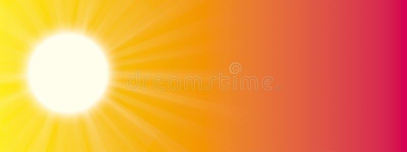 Titelrad för solstråle för sommarhimmelsol vektor illustrationer