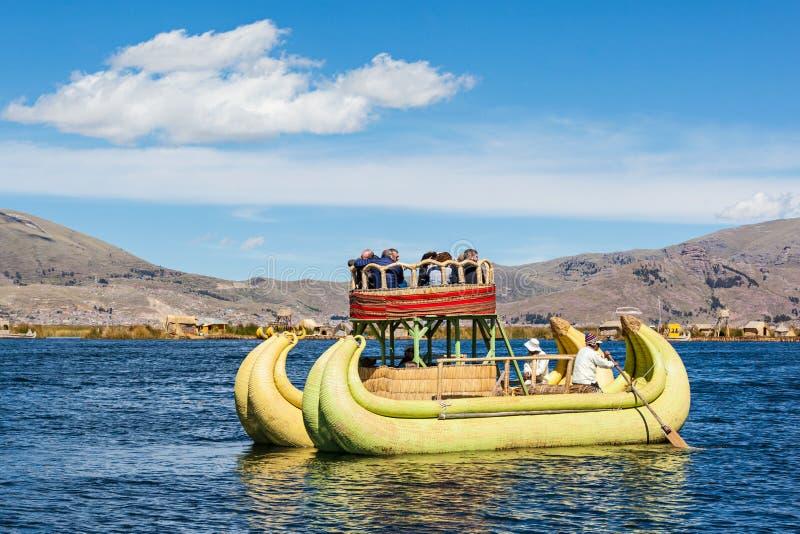 Titicaca湖,普诺 免版税图库摄影
