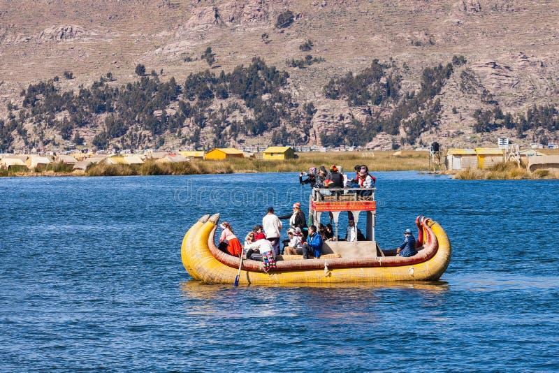 Titicaca湖,普诺 库存图片
