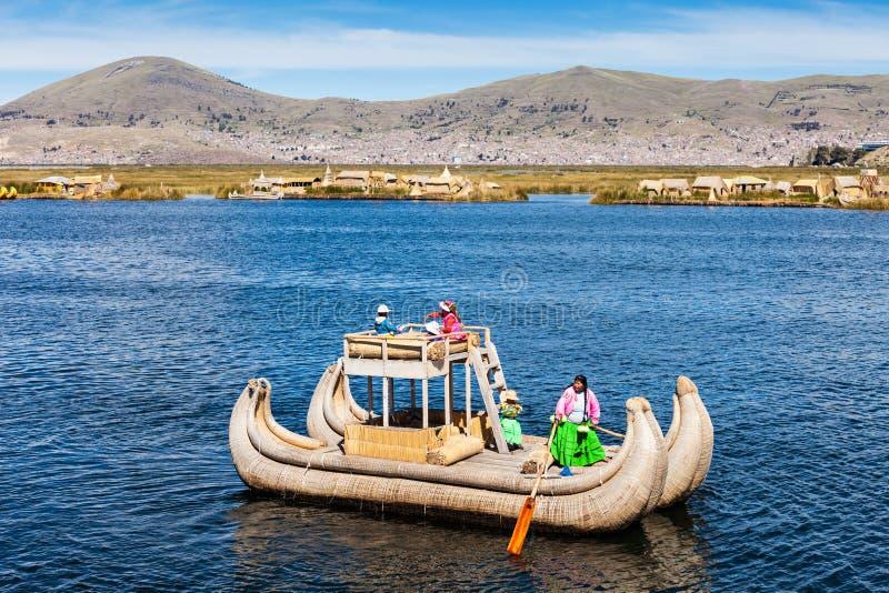 Titicaca湖,普诺 库存照片