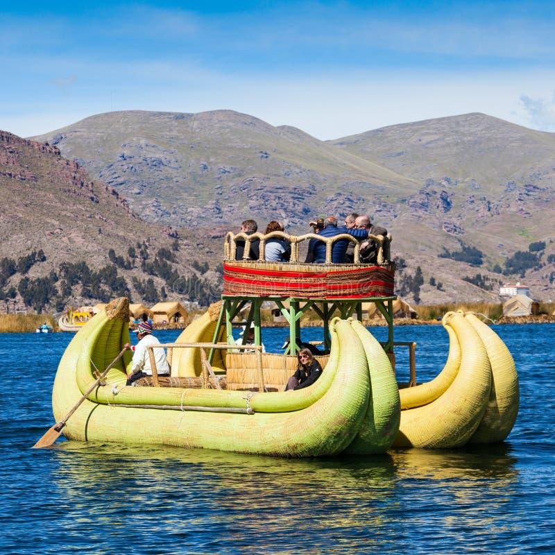 Titicaca湖,普诺 免版税库存照片