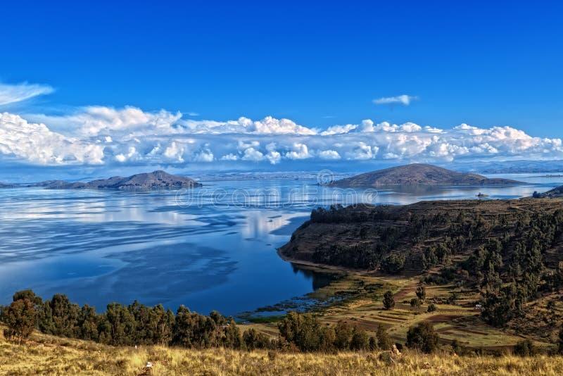 Titicaca湖玻利维亚 免版税库存照片