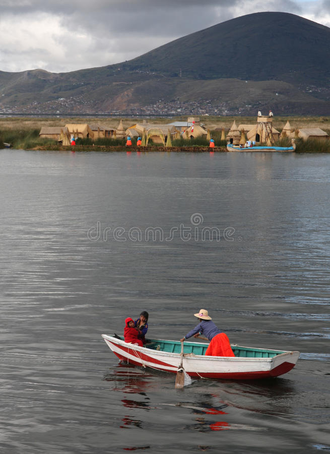 titicaca του Περού λιμνών στοκ εικόνα με δικαίωμα ελεύθερης χρήσης