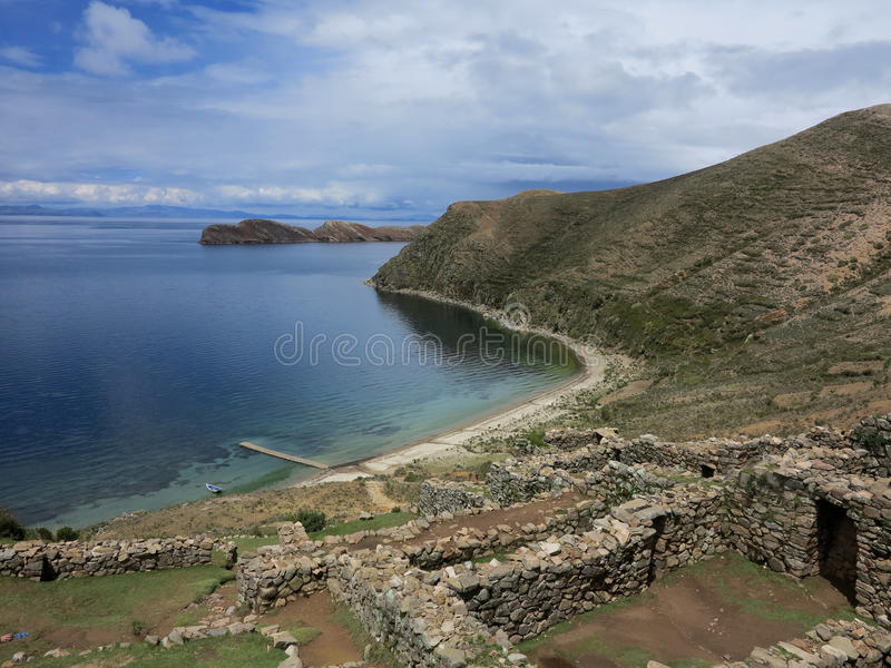 Download Titicaca lake, bolivia stock image. Image of mountains - 39509727