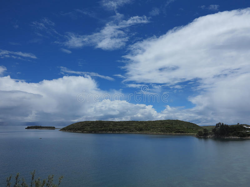 Download Titicaca lake, bolivia stock image. Image of andes, border - 39510377