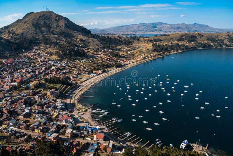Titicaca van het Copacabanameer royalty-vrije stock fotografie