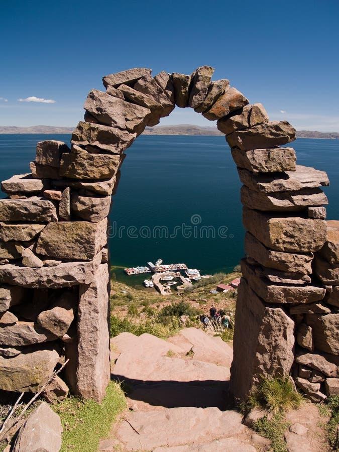 titicaca wyspy amantani jeziora. zdjęcie stock