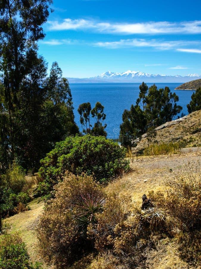 Titicacameer stock foto