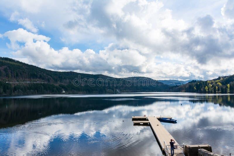 Titisee Germany Mountain Black Forest Landscape Lake Beautiful V stock photo
