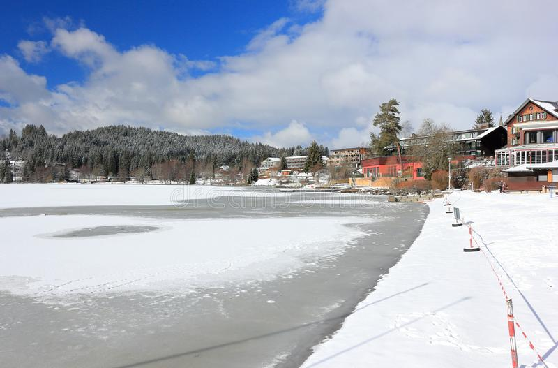 Lake Titisee in winter. Black Forest, Germany. royalty free stock images