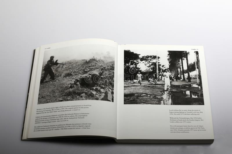 Photography book by Nick Yapp, French infantry in Indochina War royalty free stock photography
