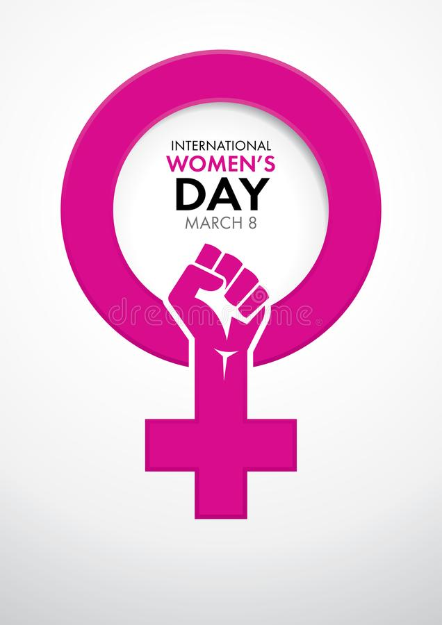 Title International Womens Day Inside The Symbol Of Woman In Pink